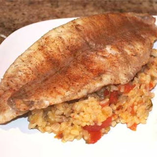 Grilled Catfish with Red Rice
