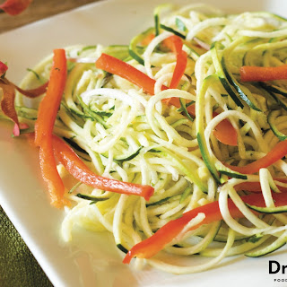Zucchini Noodles with Marinara Sauce.