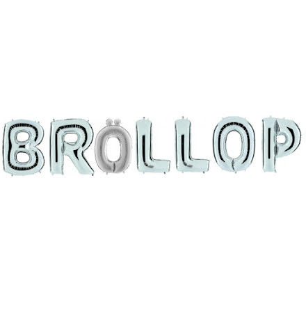 Folieballonger - BRÖLLOP, silver