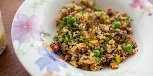 Easy Tri-Color Vegetarian Quinoa Recipe