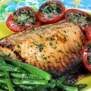Roasted Honey-Dijon Salmon with Fresh Herbs.