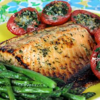 Roasted Honey-Dijon Salmon with Fresh Herbs.
