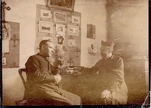 Photo: Don Bonifacio Ormaecheverria y Don Francisco López de Larruena arciprestes de Guernica y Lequeitio respectivamente, licenciados en teología.