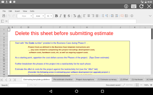 AndroXLS editor for XLS sheets 5