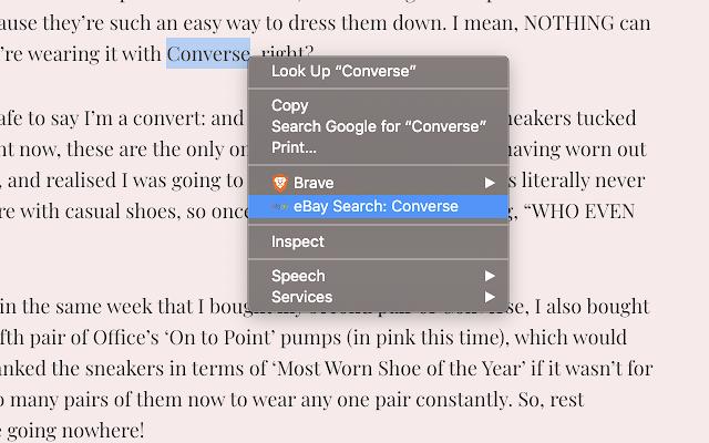 Ebay Search Highlight Right Click