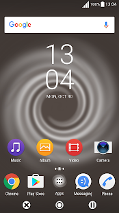 Swirl Café LIVE Theme for XPERIA- screenshot thumbnail
