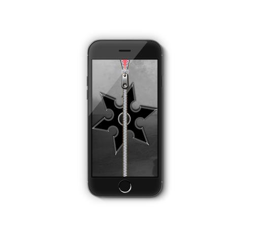 ninja shuriken zipper lock