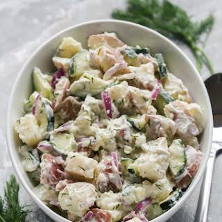 Creamy Cucumber & Dill Potato Salad Recipe