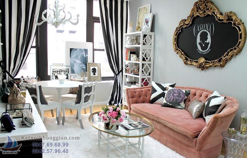 thiết kế phòng khách nổi bật
