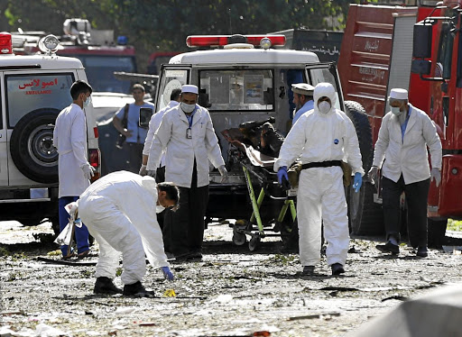 Afghan investigators work at the site of a suicide attack in Kabul, Afghanistan, on July 24 2017. Picture: REUTERS