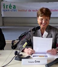 Photo: Françoise Cros, professeure émérite en sciences de l'éducation au CNAM