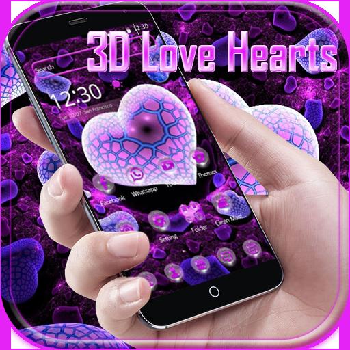 Love Heart Beat 3D theme