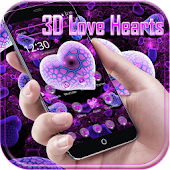 Love Heart Beat 3D theme