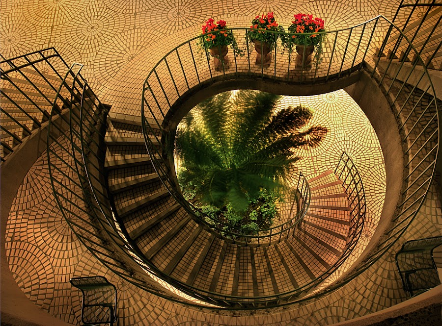 Embarcadero Stairway by Gary Pope - Buildings & Architecture Other Exteriors ( stair, night, architecture, san francisco )