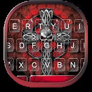 Neon Red Cross Keyboard Theme APK for Bluestacks