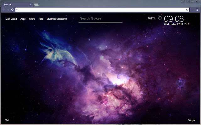 Free Addon Dark Blue Chrome Themes