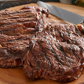 Grilled Chipotle Cinnamon Marinated Rib-Eye Steak