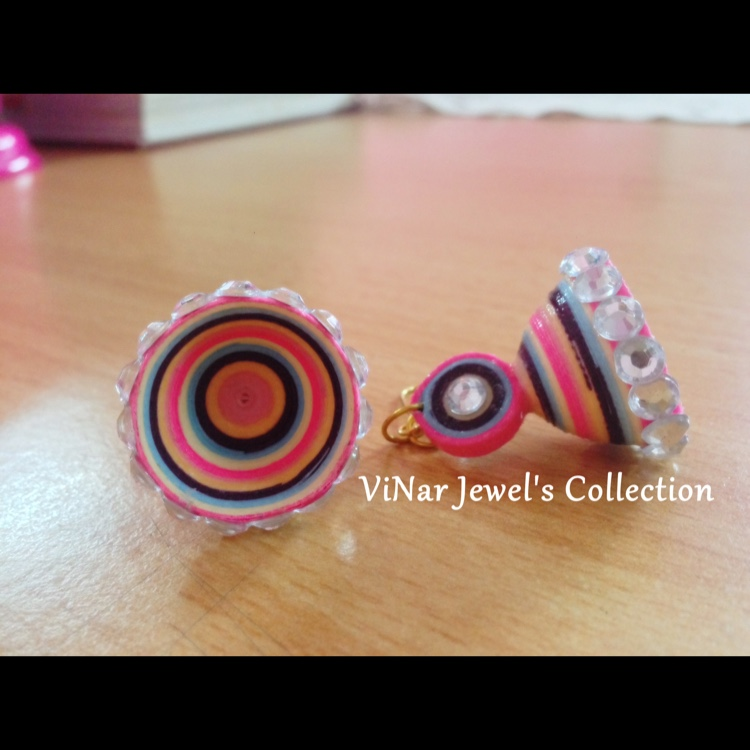 Candy Colorfull quilling earrings