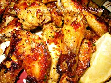 Crispy Lemon Garlic Chicken Wings~Robynne