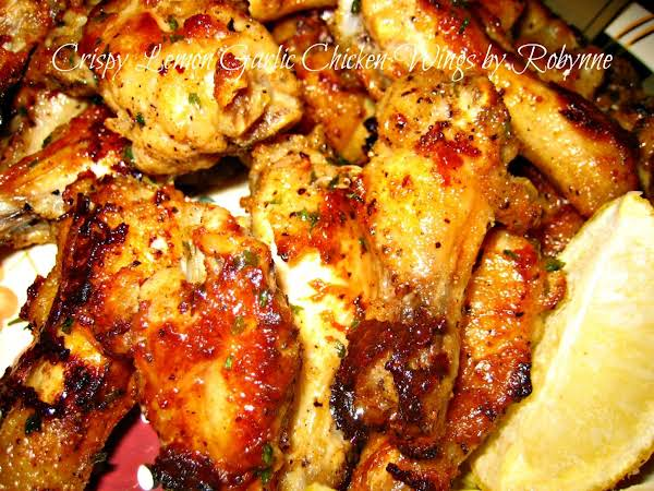 Crispy Lemon Garlic Chicken Wings~robynne Recipe