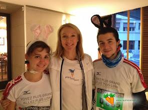Les Lapins et Paula Radcliffe