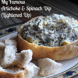 My Famous Artichoke and Spinach Dip (Lightened Up)