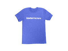 MatterHackers Printed Heather T-Shirts True Royal Heather XLarge