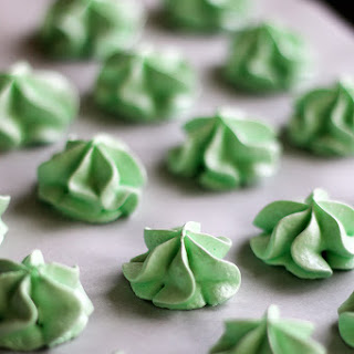 Meringue Drops with Toll House Mint Chocolate DelightFulls.