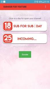 Sub4Sub for YT - náhled