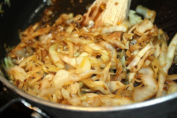 Cabbage With Miso-balsamico-honey Dressing Recipe