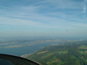 Photo: On the left an island in the lake Gnadensee; in the distance we already see the Lake Constance and Constance itself http://www.swiss-flight.net