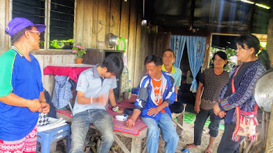 Photo: Phrao: Arm checking blood pressure of HIV patients in Phrao