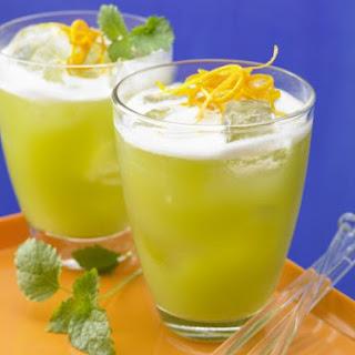 Asparagus and Melon Juice Cocktail.