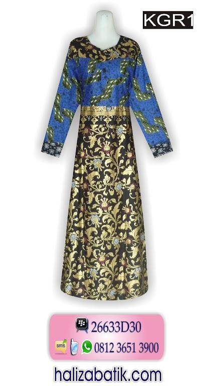 Grosir Baju Batik Gamis, Gamis Batik Pekalongan, Busana Muslim
