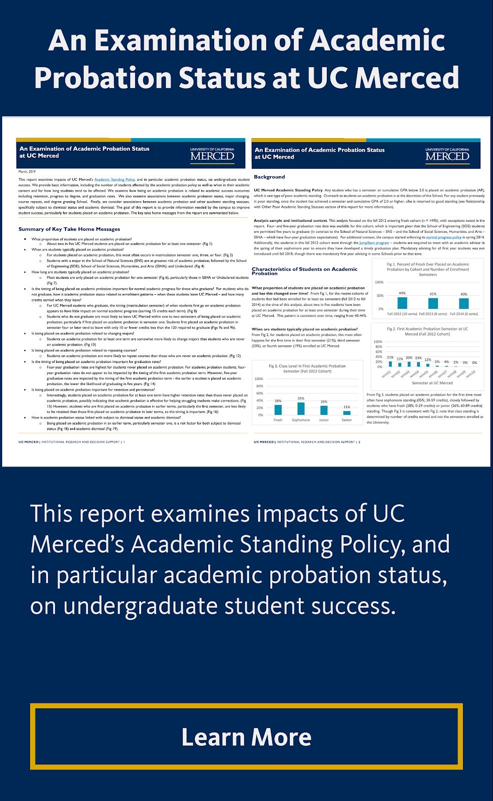 An Examination of Academic Probation Status at UC Merced