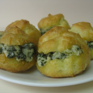 Mini Spinach Dip Cream Puffs