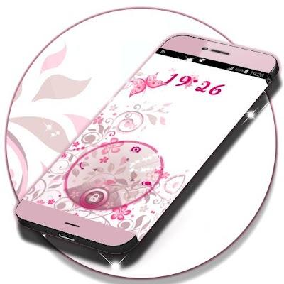 Locker тему для Android Pink