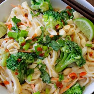 Thai Noodles in Peanut Sauce