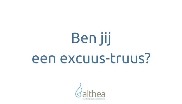 [Artikel] Ben jij een excuus-truus?