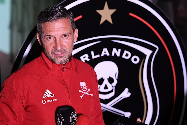 Orlando Pirates coach Josef Zinnbauer is under pressure despite having won the club the MTN8 earlier this season.