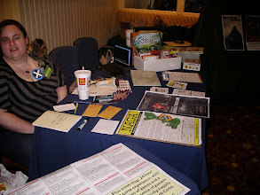 Photo: Nissa was ready with games and information.