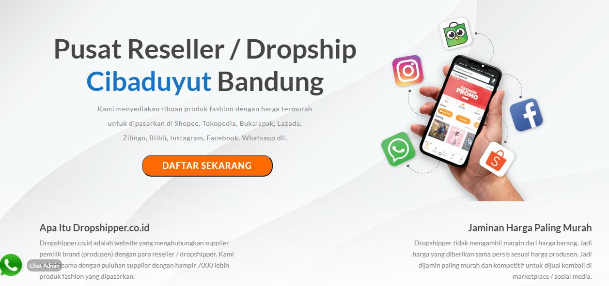 dropshipper.co.id - mencari uang dari online