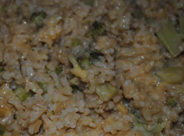 Cheesy Rice & Broccoli Recipe
