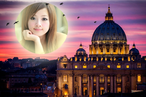 Rome Night Photo Effects