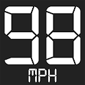 Speedometer - Car distance monitor or speed meter icon
