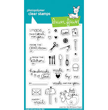 Lawn Fawn Clear Stamps 4X6 - Just For You