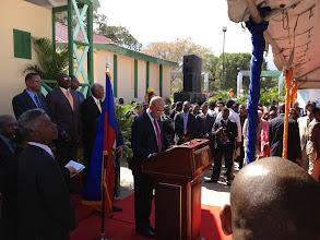 Photo: Le discours du Président Michel Joseph Martelly