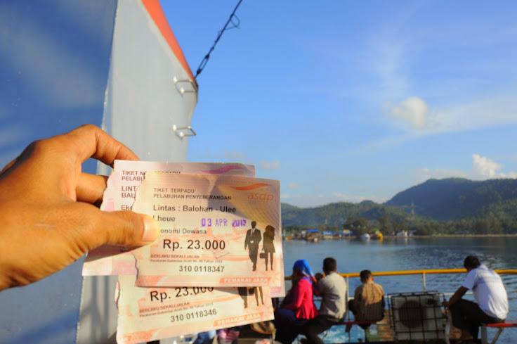 Harga tiket kapal ferry ke Sabang