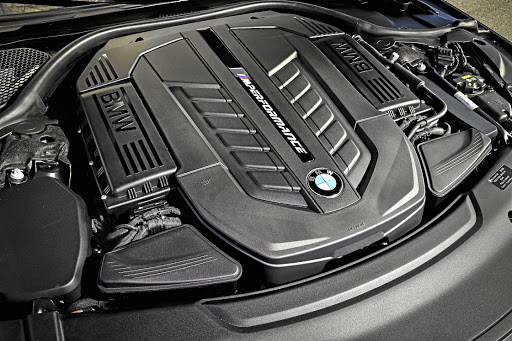 The V12 that produces 448kW and will take you to 100km/h in just 3.7 seconds. Picture: BMW