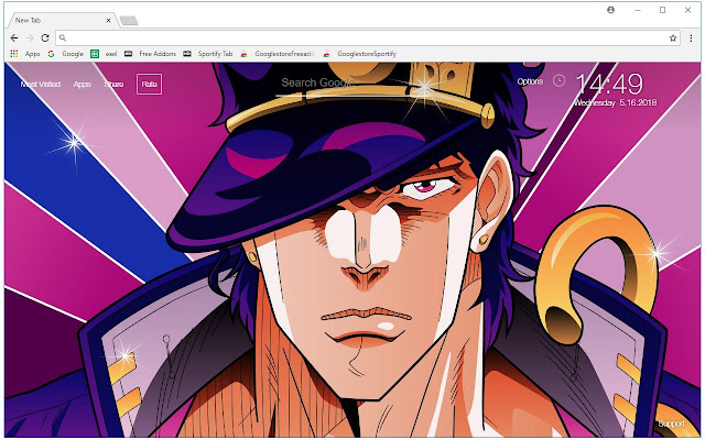 Jojo Bizarre Adventure HD Wallpaper New Tab